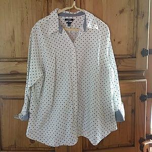 Chaps button up blouse 2X